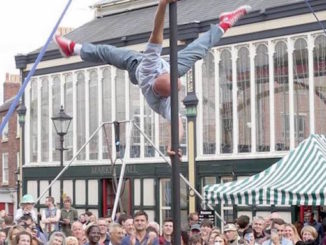 Dick Danger at the 2015 Stockport Old Town Fringe Festival