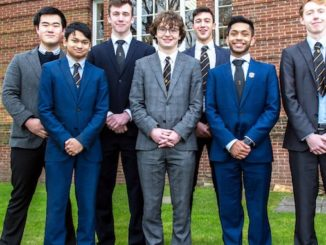 The Manchester Grammar School's Limeng Zhu, Charlie Pozniak, Rupert Mitchell Adib Badri, Mharab Choudhry and Tom Appleby