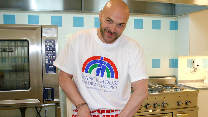 Celebrity chef Simon Rimmer opens the new kitchen at Francis House